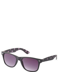 Charlotte Russe Matte Bow Print Sunglasses