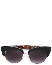 Dolce & Gabbana Print Arm Detail Sunglasses