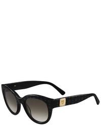 MCM Printed Cat Eye Logo Temple Sunglasses Black