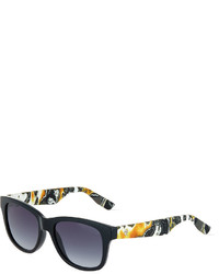 McQ by Alexander McQueen Mcq Alexander Mcqueen Graphic Print Arm Cat Eye Sunglasses Black