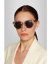 d777a8934b6 ... Illesteva Whitechapel Camouflage Round Frame Matte Acetate Sunglasses