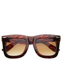 ZeroUV Ny Celebrity Designer Inspired Thick Large Wayfarers Sunglasses