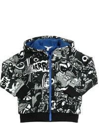 Little Marc Jacobs Comics Strip Print Hooded Sweatshirt