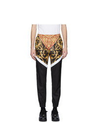 Versace Black And White Barocco Track Pants