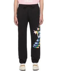 Gucci Black Interlocking Flash Print Lounge Pants