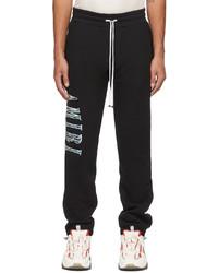 Amiri Black Paisley Logo Appliqu Lounge Pants