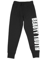 MSGM Printed Cotton Jogging Pants