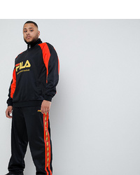 Fila Poly Tricot Joggers With Taping In Black