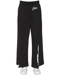 Facetasm Print Jersey Sweatpants W Rib Inserts
