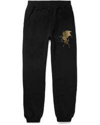 Alexander McQueen Slim Fit Tapered Printed Cotton Jersey Sweatpants