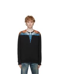 Marcelo Burlon County of Milan Black And Orange Wings Sweatshirt
