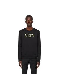 Valentino Black And Yellow Vltn Sweatshirt
