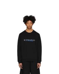 Givenchy Black Calligraphic Print Sweatshirt