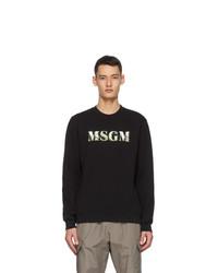 MSGM Black Carnivore Plant Logo Sweatshirt