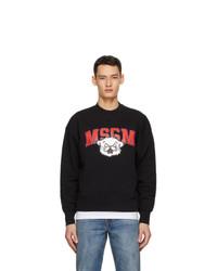 MSGM Black Cartoon Print Sweatshirt
