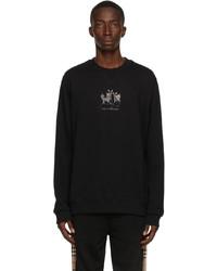Burberry Black Embroidered Deer Sweatshirt