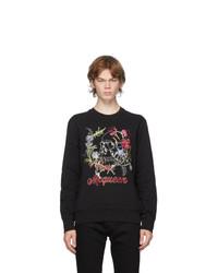 Alexander McQueen Black Floral Skull Sweatshirt