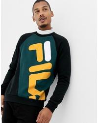Fila Black Line Emmett Logo Panel Sweatshirt In Black