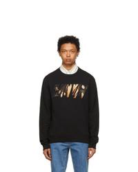 Lanvin Black Logo Applied Angel Sweatshirt