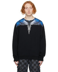 Marcelo Burlon County of Milan Black Navy Wings Sweatshirt