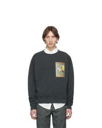 Schnaydermans Black Oversized Well Pressed Pete Sweatshirt