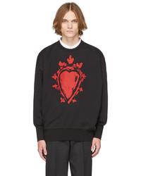 Alexander McQueen Black Painted Heart Sweatshirt