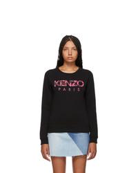 Kenzo Black Paris Peonie Slim Sweatshirt