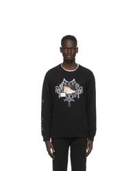 Givenchy Black Patch Chandelier Jewelry Print Sweatshirt