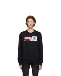 Diesel Black S Girk Cuty Sweatshirt