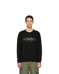Givenchy Black Schematics Logo Sweatshirt