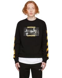 Off-White Black Slim Caravaggio Painting Print Sweatshirt