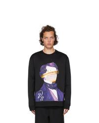 Valentino Black Undercover Edition V Face Ufo Print Sweatshirt