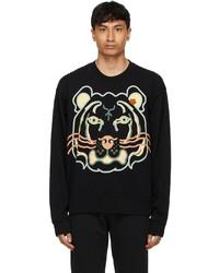 Kenzo Black Wwf Edition K Tiger Sweatshirt
