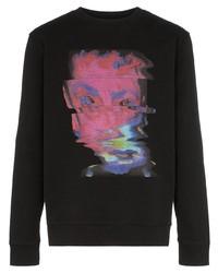Marcelo Burlon County of Milan Face Print Cotton Sweatshirt