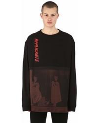 Raf Simons Oversized Print Cotton Jersey Sweatshirt