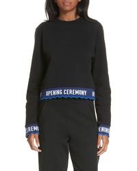 Opening Ceremony Scallop Crop Sweatshirt