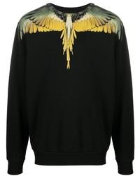 Marcelo Burlon County of Milan Yellow Wings Long Sleeved T Shirt