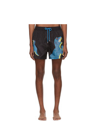 Ps By Paul Smith Black Dino Swim Shorts
