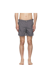 Alexander McQueen Black Dot Skull Swim Shorts