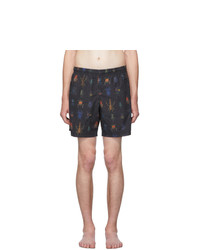 Alexander McQueen Black Jewel Bug Swim Shorts