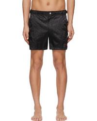 Alexander McQueen Black Skull Swim Shorts