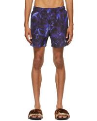Vetements Blue Black Logo Tech Swim Shorts
