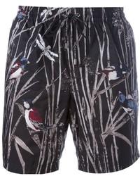 Dolce & Gabbana Bird Print Swim Shorts