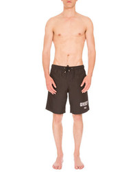 Givenchy Logo Print Swim Trunks Black