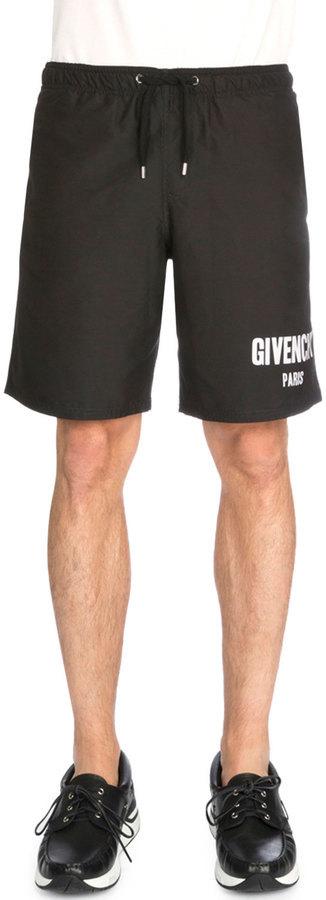 c3b094b61c8a0f ... Givenchy Logo Print Swim Trunks Black ...