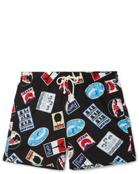 MAISON KITSUNÉ Maison Kitsun Mid Length Printed Swim Shorts