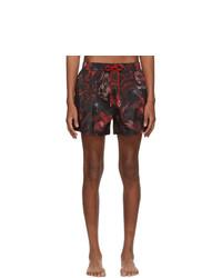 Paul Smith Red Beetle Botanical Swim Shorts