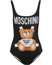Moschino Printed Swimsuit Black