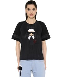 Fendi Printed Techno Mesh Jersey T Shirt