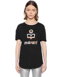 Etoile Isabel Marant Rainbow Logo Printed Jersey T Shirt